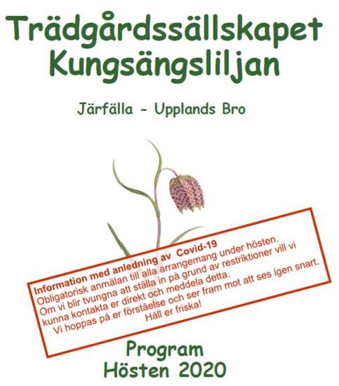 Program hösten 2020